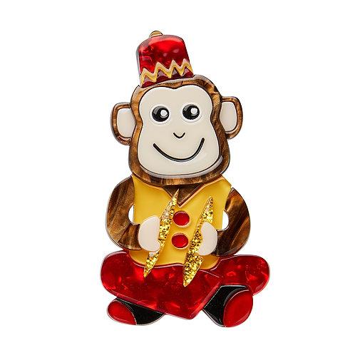 Charley Chimp Brooch by Erstwilder | Circus Monkey