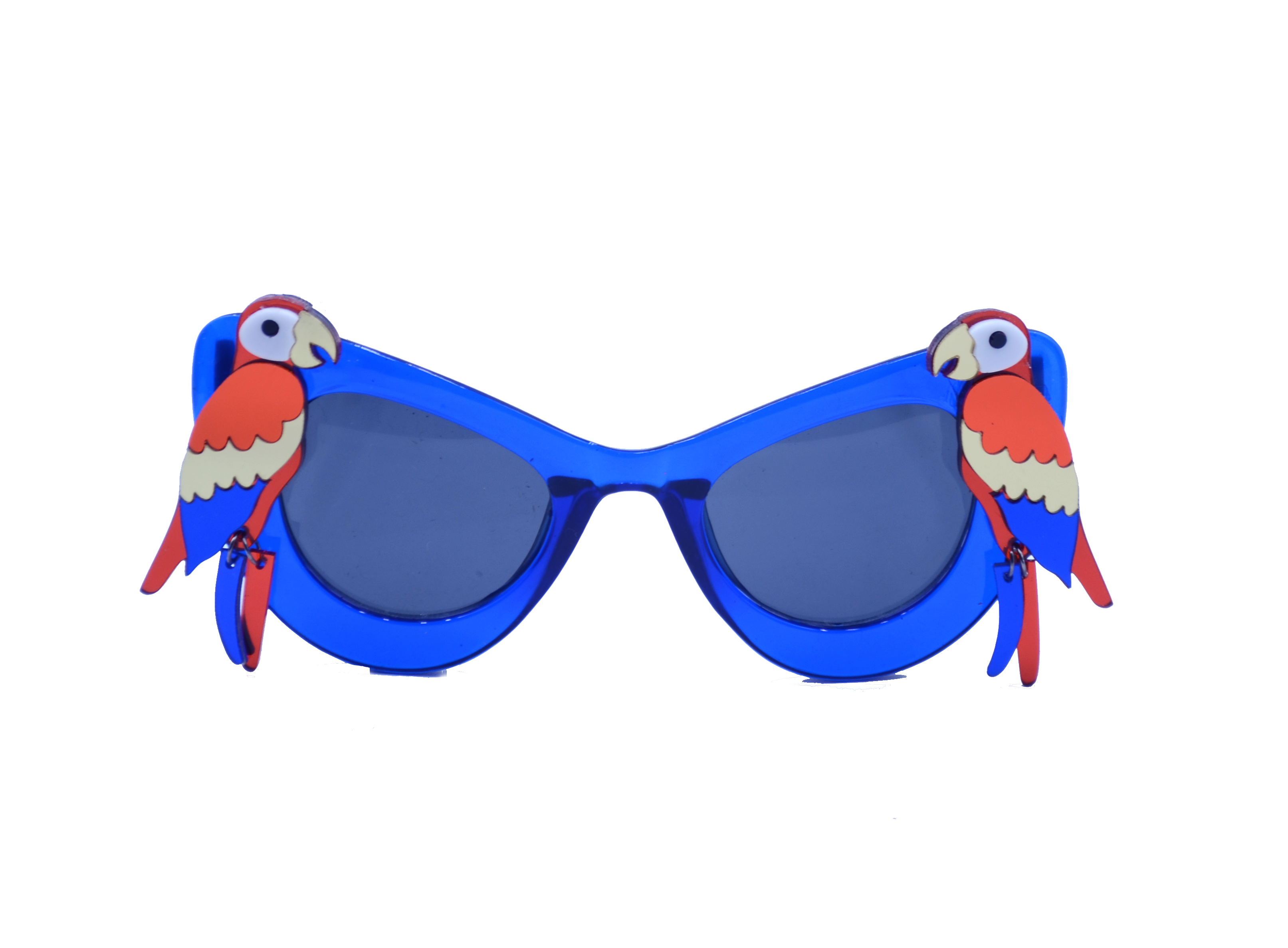 Laser-Cut Acrylic  Red Parrot Blue Sungl