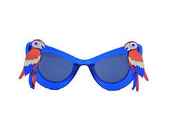 Laser-Cut Acrylic  Red Parrot Blue Sungl