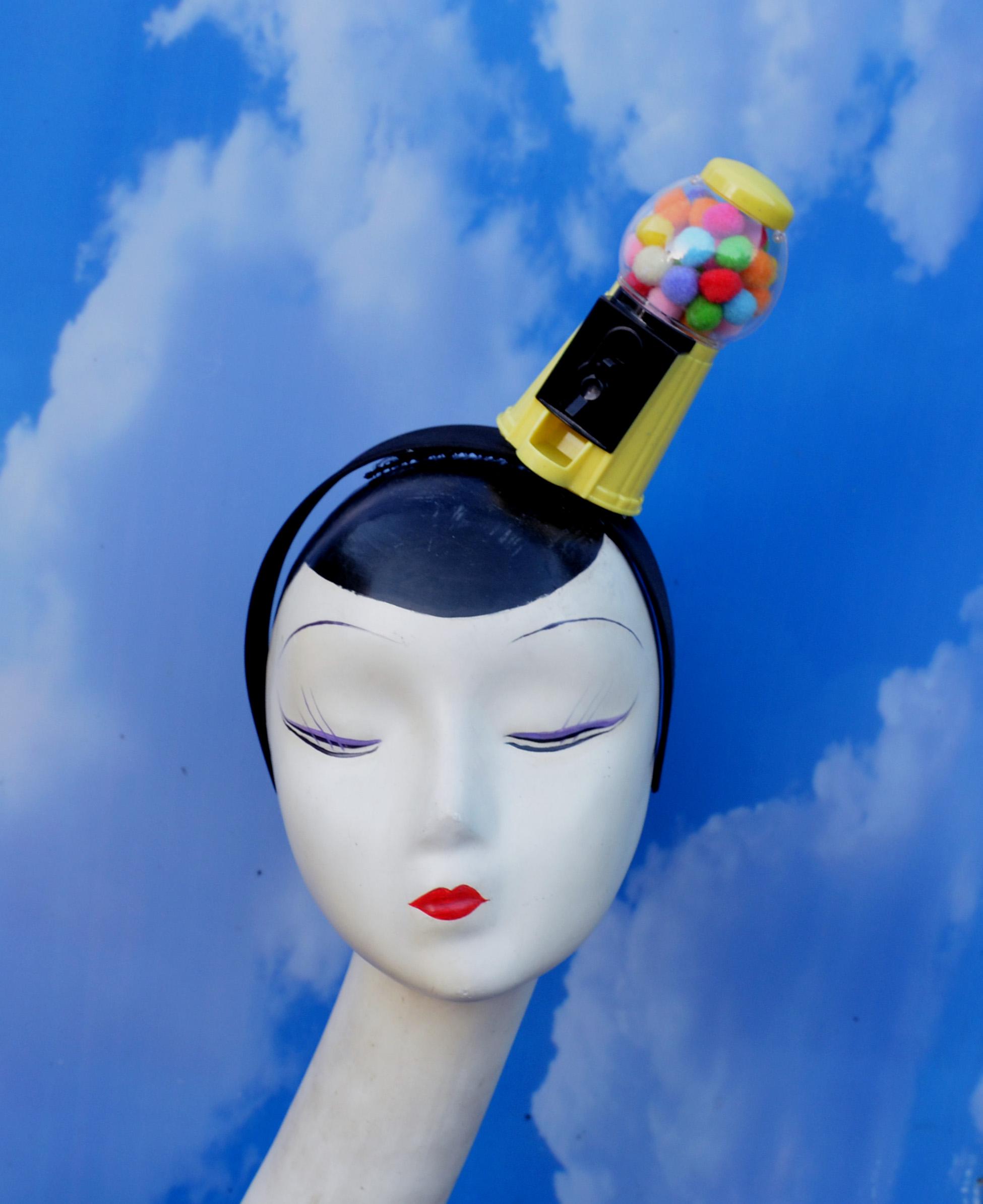 Yellow Gumball Machine Costume Headband.