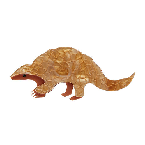 Roly Poly Pangolin Brooch by Erstwilder