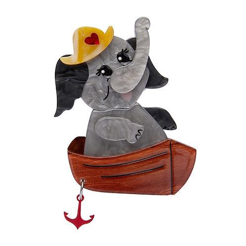 Love Boat Brooch by Erstwilder | Gray Elephant Sailor