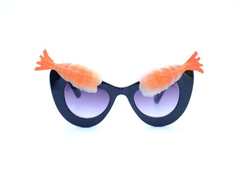 Beetlejuice Inspired Sunglasses   Shrimp Cocktail Eyebrows on Black Frames