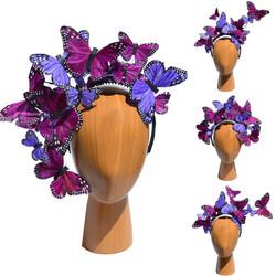 Mixed Purple Butterfly Issie Headband He