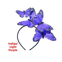 Violet Purple Monarch Feather Butterfly Mariposa Headband