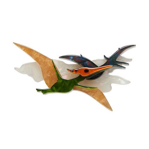 Celine the Pterodactyl Brooch   Flying Reptile Dinosaur