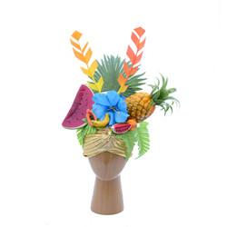 Gold Carmen Miranda Costume Fruit Turban