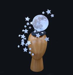 Silver Moon & Stars Convertible Headdres