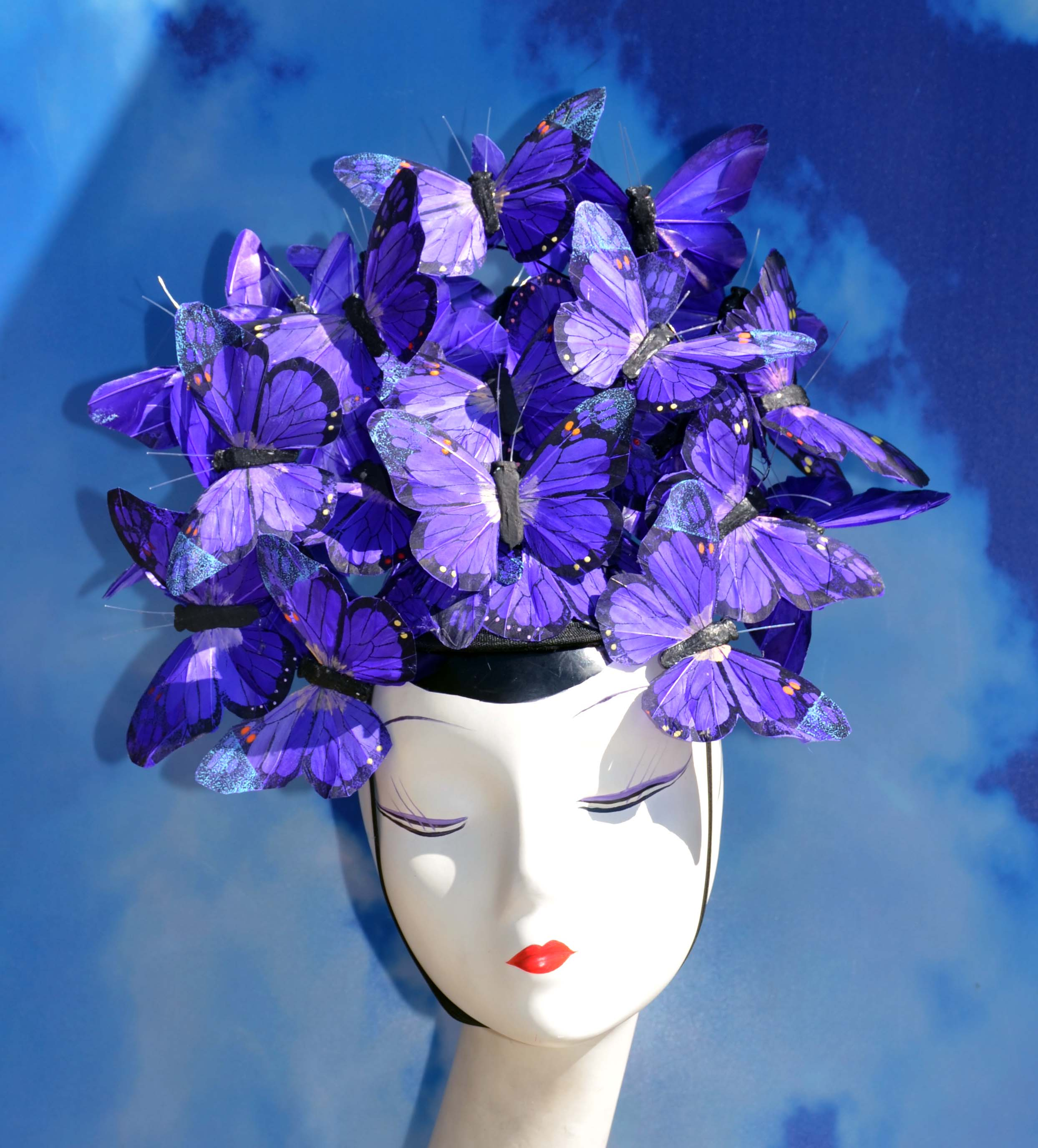 Purple Butterfly Hat Headpeice