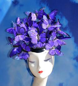 Purple Butterfly Hat Headpeice