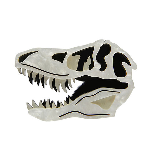 Bad to the Bone Brooch | T-Rex Fossil Skull