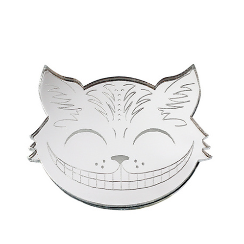 Chesire Cat Silver Brooch by Little Moose | Alice in Wonderland