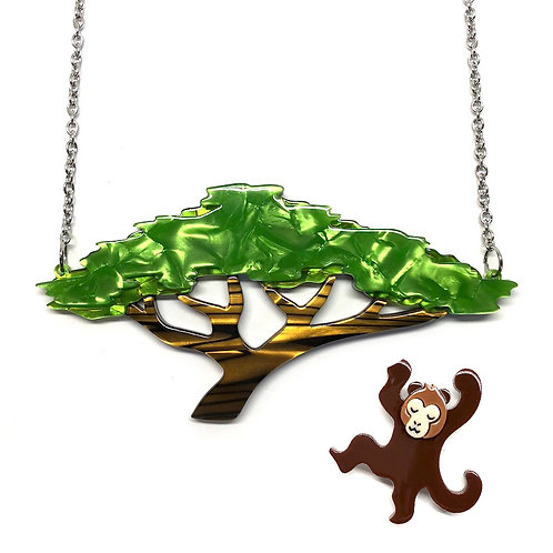 Acacia Escape [Necklace & Brooch Set] by Erstwilder