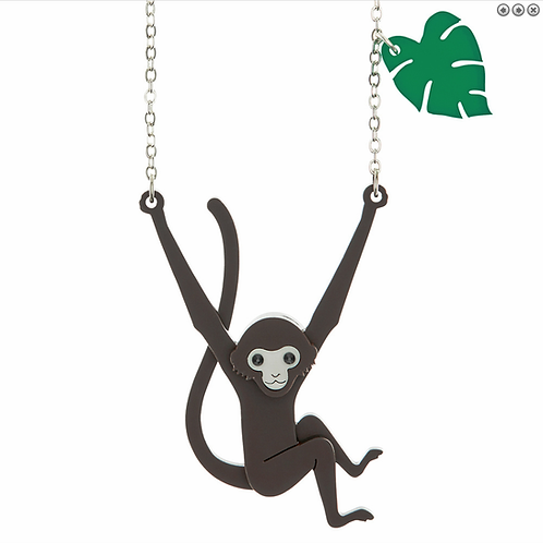 SPIDER MONKEY PENDANT NECKLACE by Little Moose