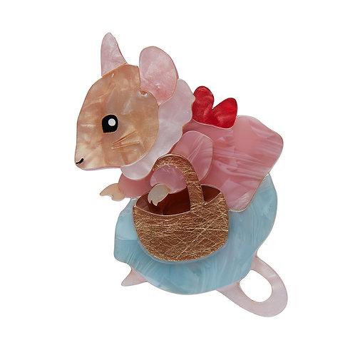 MRS. TITTLEMOUSE Brooch by Erstwilder | Peter Rabbit | Mouse