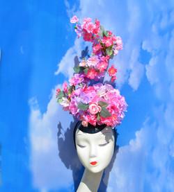 Convertible Pink Floral Headpiece (5)