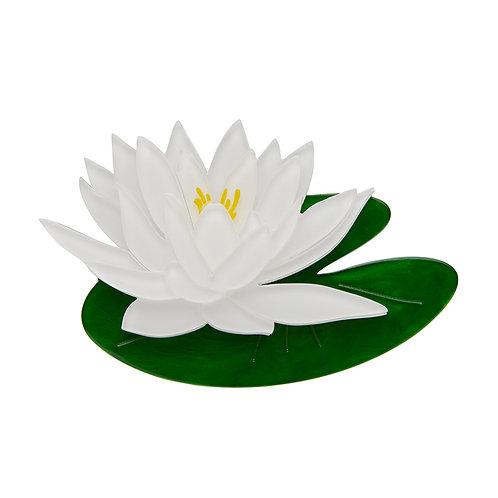 Enlightened Waters Brooch by Erstwilder | White Water Lily