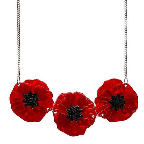 Poppy Field Necklace by Erstwilder