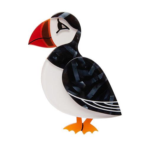 Piccolo Puffin Brooch by Erstwilder | Bird