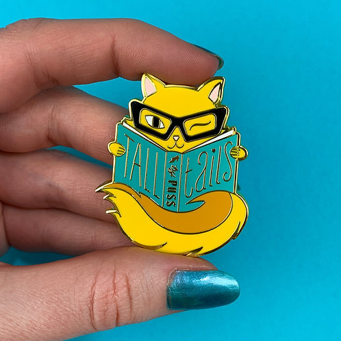 Yellow Tall Tails Enamel Pin by Erstwilder | Cat