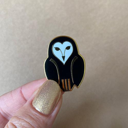 Owl Ornamental Enamel Pin by Erstwilder   Bird