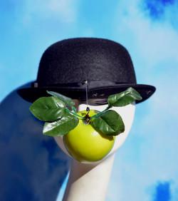 Magritte Apple Bowler Hat