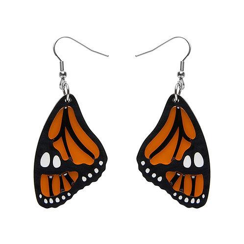 Prince of Orange Earrings by Erstwilder | Monarch Butterfly