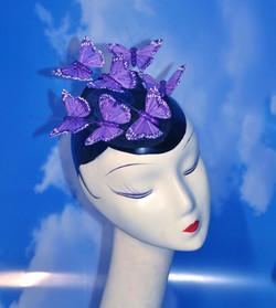 Purple Glitter Butterfly Fascinator