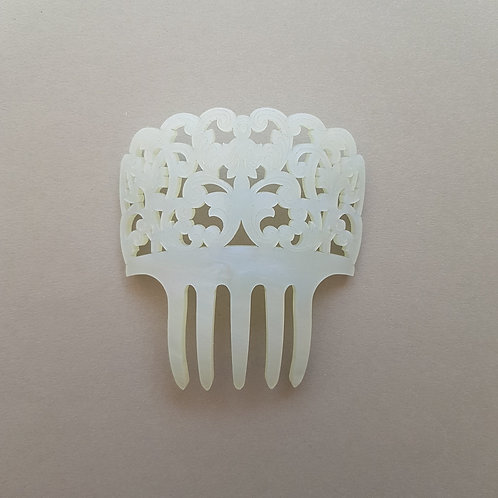 Small Mantilla Hair Comb in Mother of Pearl by MissJ