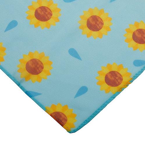 Sumptuous Sunflower Scarf by Erstwilder   Yellow Flower, Blue Scarf