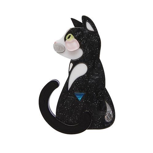 Meow Meow Brooch by Erstwilder | Pete Cromer Black Cat