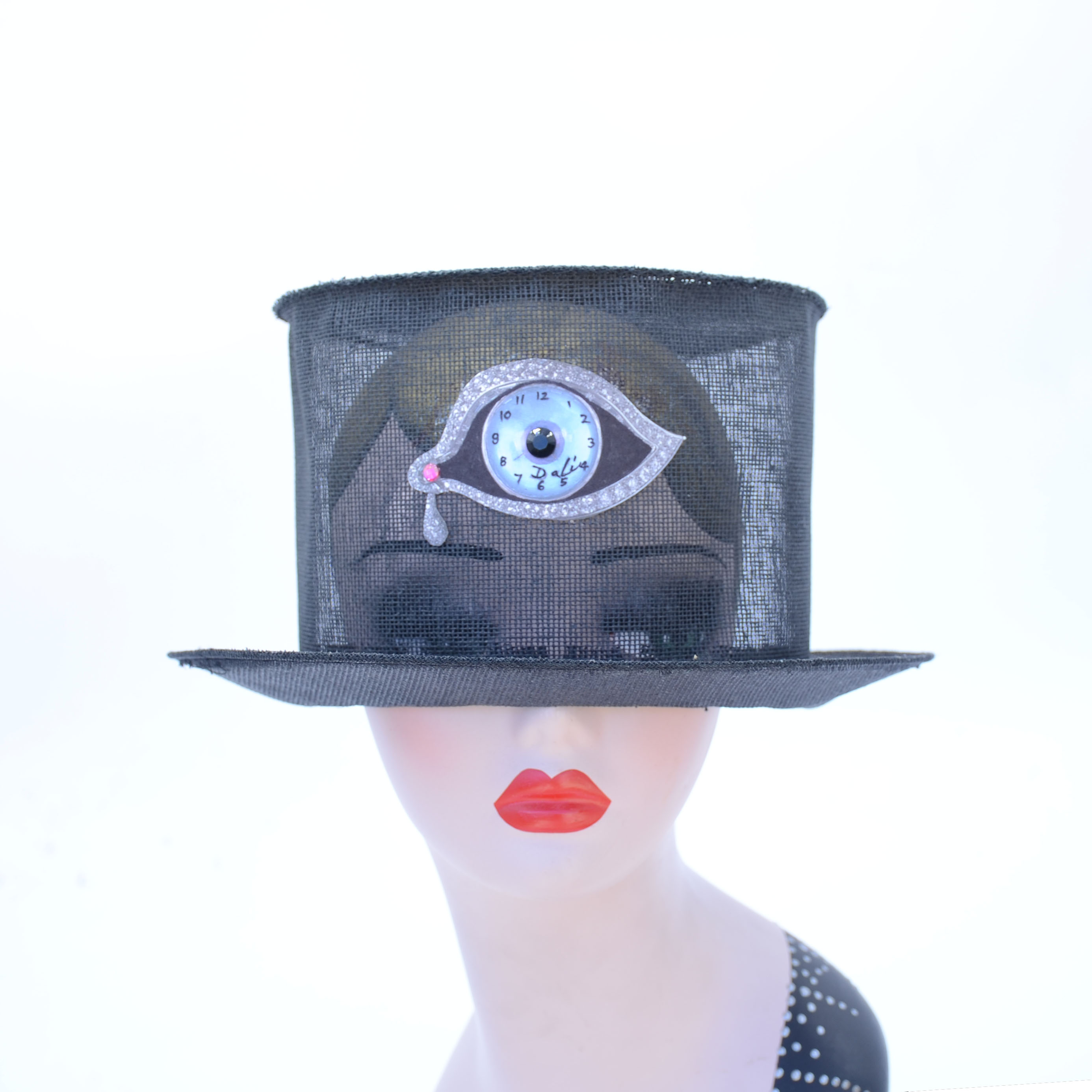 Surreal Salvador Dali Jeweled Eye Top Ha