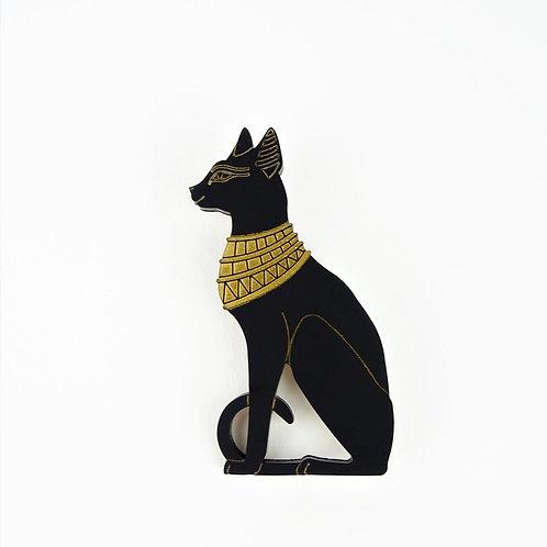 Egyptian Cat Goddess Brooch by MissJ Designs | Baset