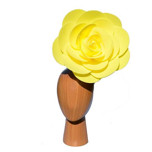 Bright Yellow Rose Queen Floral Hatinator Fascinator Headpiece