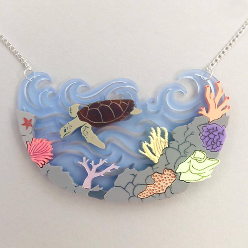Great Barrier Reef Necklace by KimChi & Coconut