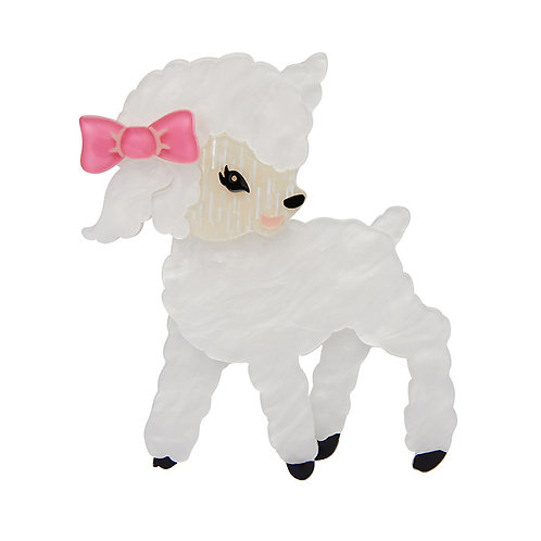 Dolly the Dainty Brooch by Erstwilder   White Lamb