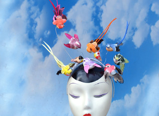 """The Hitchcock - Our """"The Birds"""" Inspired Headpiece"""