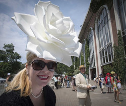 Kathleen in a White Rose Hat
