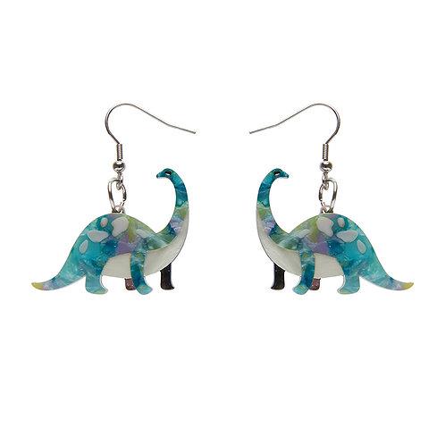 Erstwilder Dinosaurs I'll be Brach Green Earrings