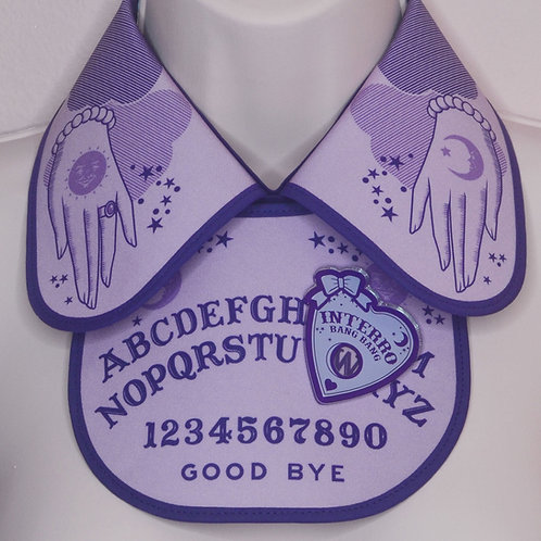 Purple Ouija Collar & Bib Set with Acrylic Planchette by InterroBangBang