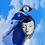 "Thumbnail: Dali ""Eye of Time"" Teardrop  Clock Veiled Headband"