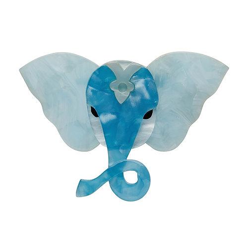 Balthazar Brooch by Erstwilder | Pale Blue Elephant