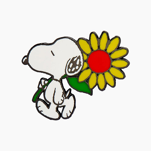Snoopy's Sunflower Enamel Pin by Erstwilder | PEANUTS