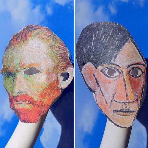 Ready-to-Ship Pablo Picasso, Vincent Van Gogh, Salvador Dali Masquerade Mask