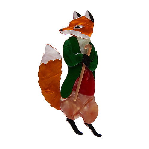 MR. TOD Brooch by Erstwilder | Peter Rabbit | Red Fox