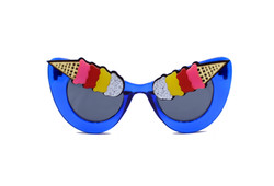 Blue Eye Scream Ice Cream Sunglasses