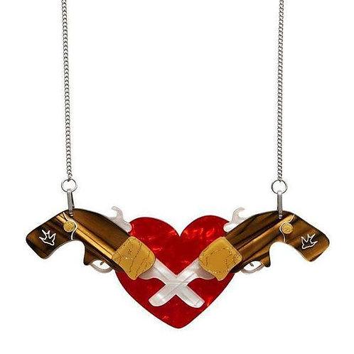 Holstered Love Necklace by Erstwilder