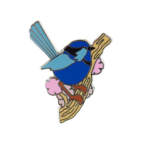 Phoebe the Fairy Wren Enamel Pin by Erstwilder | Blue Bird
