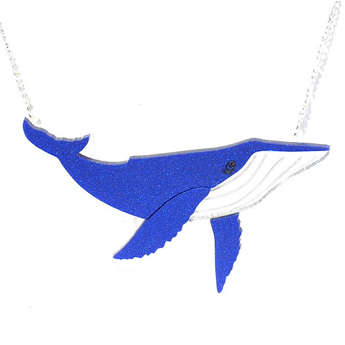 Blue or Black Galactic Whale Necklace by KimChi & Coconut