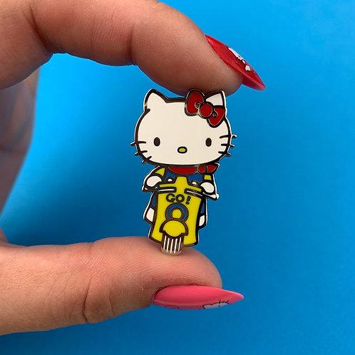 Hello Kitty Scooter Enamel Pin by Erstwilder